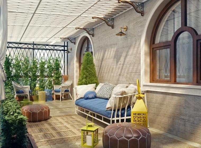 jardines mediterráneos-muebles-modernos-comodos