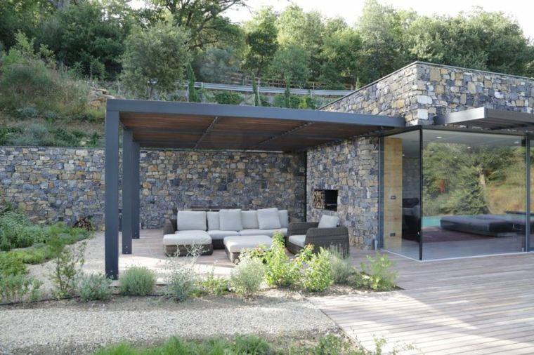 jardines mediterráneos-piedras-Giordano-Hadamik-Architects