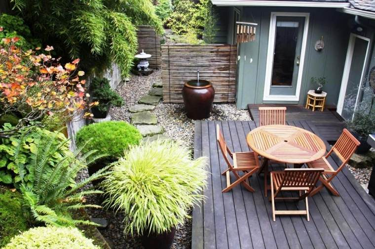 jardines pequeños ideas bambu-especial-muebles