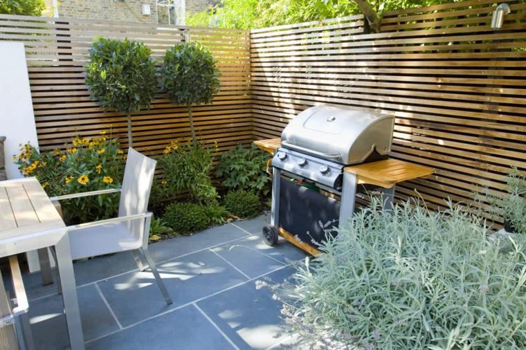 jardines pequeños ideas cocina-exteriors-mesas