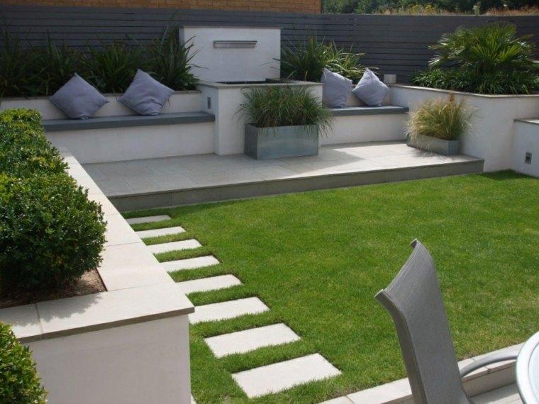jardines pequeños ideas cojines-comodo-especial-partes