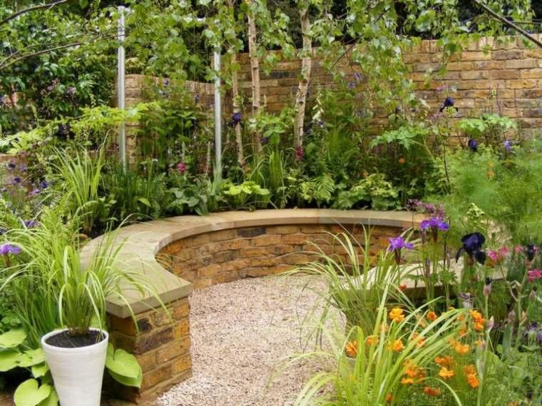 jardines-pequeños-ideas-curvado-bancos-sillas