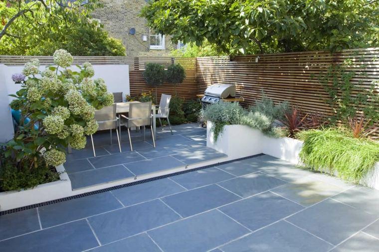 jardines-pequeños-ideas-exteriores-puestos-muebles-materiales