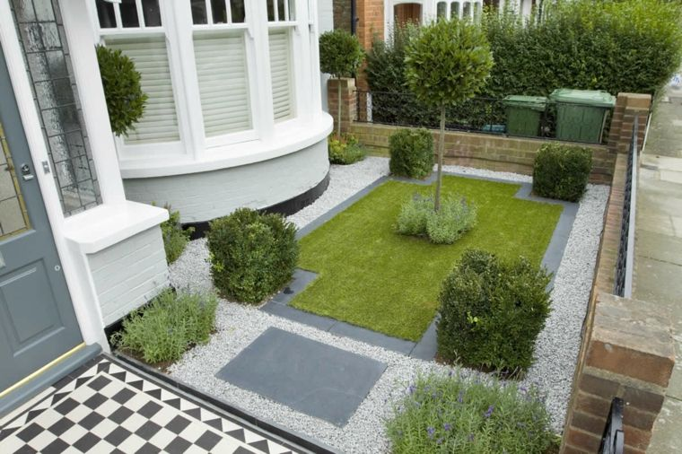 jardines-pequeños-ideas-frontal-geometrico-imagenes