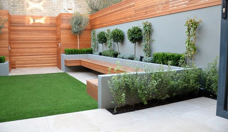 jardines pequeños ideas paredes-minimalistas-funcional
