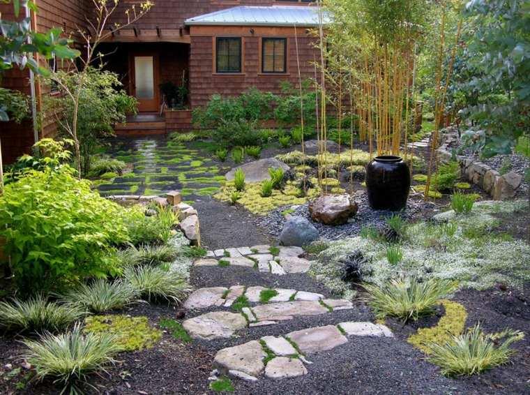 jardines piedras fuente-japones-estilos-jarrones