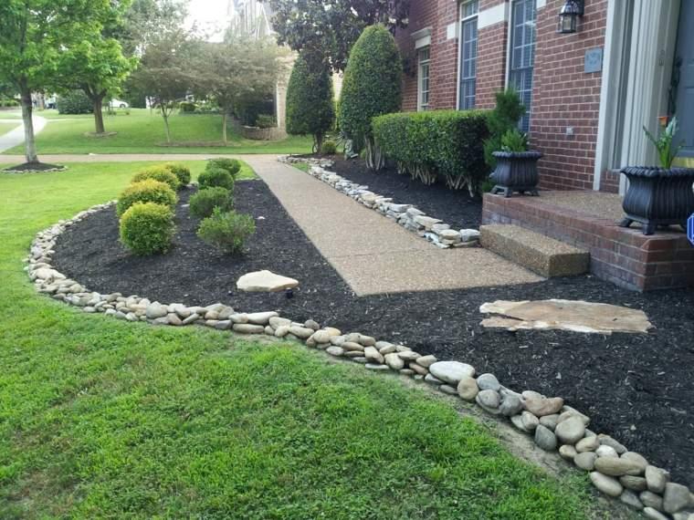 jardines piedras ideas-bordes-plantadores-tipicos