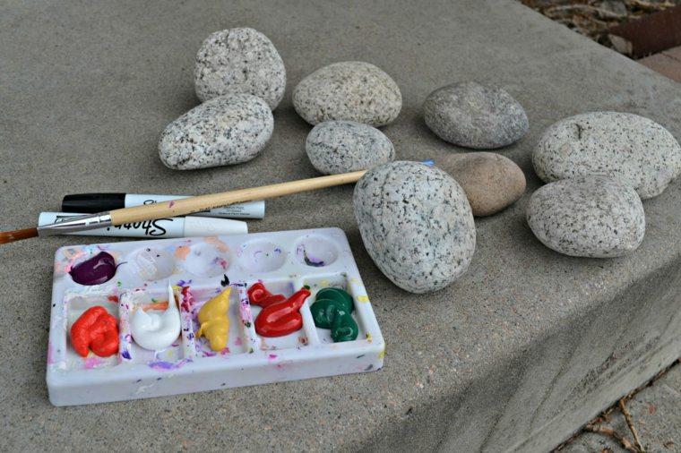 jardines piedras manualidades-opciones-diseños-divertidas