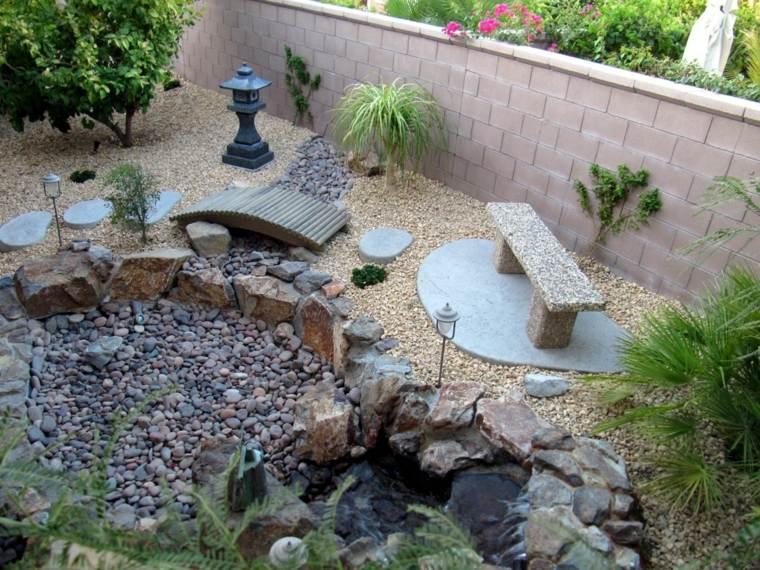 jardines piedras puentes-madera-colores-naturales-paredes