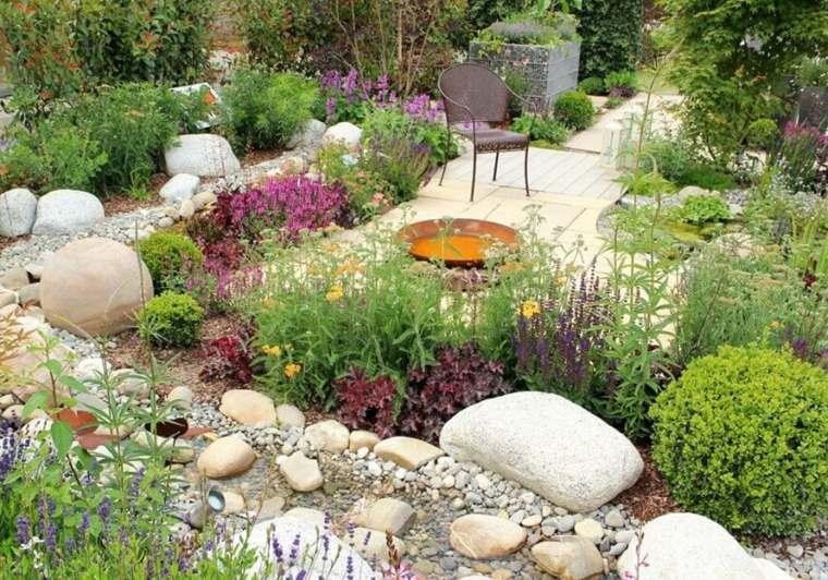 jardines-piedras-rusticos-decoraciones-muebles-acero-muebles