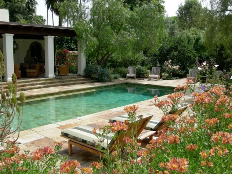 jardines-piscinas-flores-acnto-exotico-patios-naranja