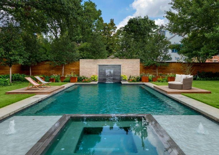 jardines piscinas moderno-maceteros-acero-partes