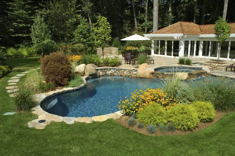 Jardines Piscinas Para Disenos Inspiradores En 40 Ideas Asombrosas - Piscinas-para-jardines-pequeos