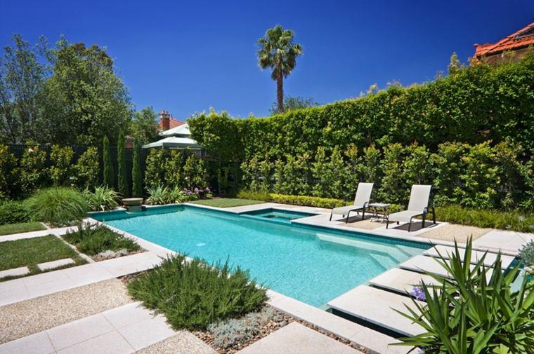 jardines piscinas rocas-materiales-puentes-mueros
