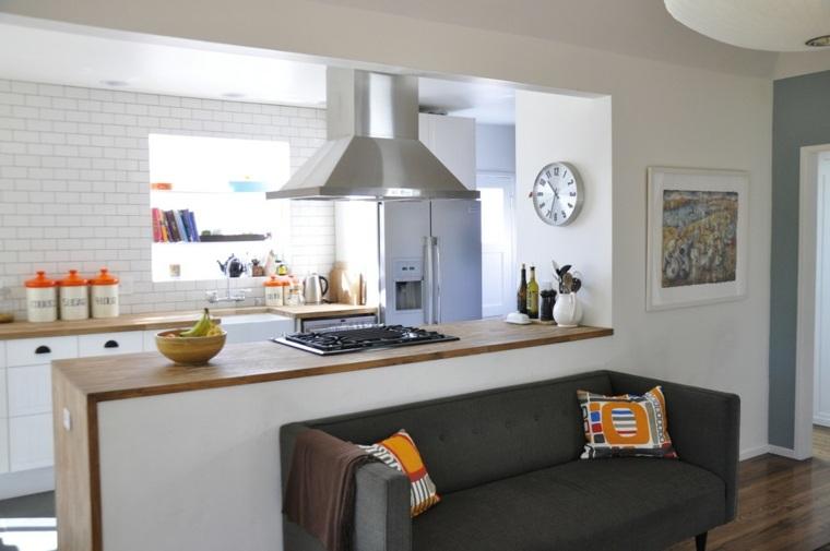 madera encanto especial pequena cocina parciales diseño