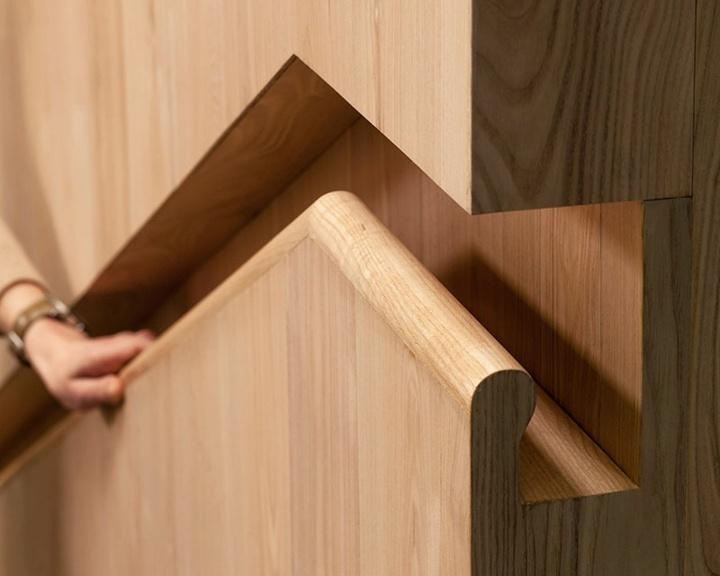 madera pasamanos incrustado disenos naturales