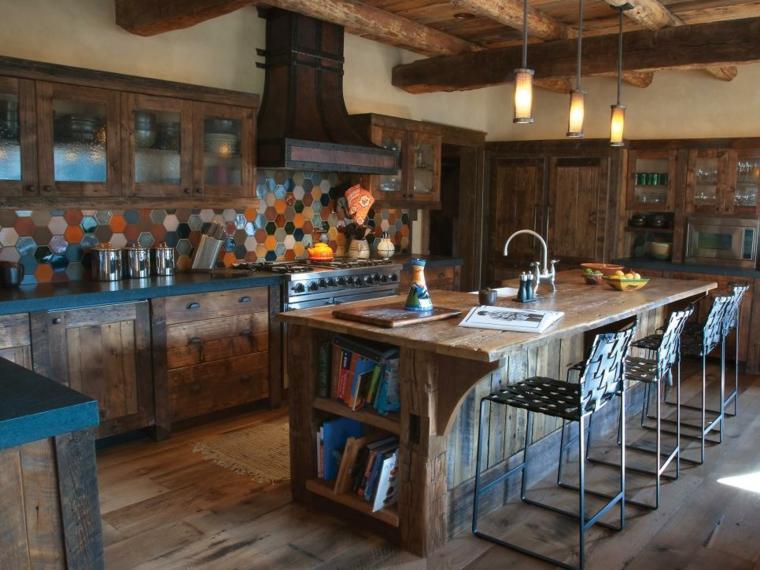 madera reciclada salpicadero colorido paredes