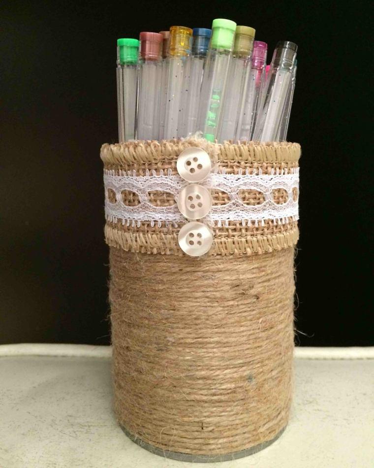 manualidades en madera lapices