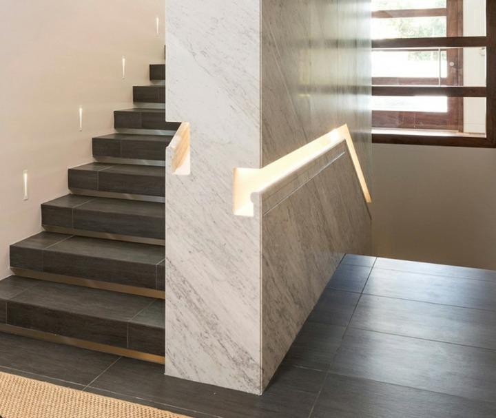 marmol moderno estable conceptos pasamanos lineas