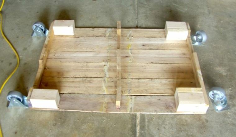 mesa de madera pales reciclados casa