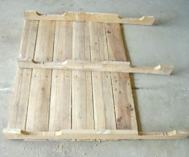 mesa de madera pales recilados original