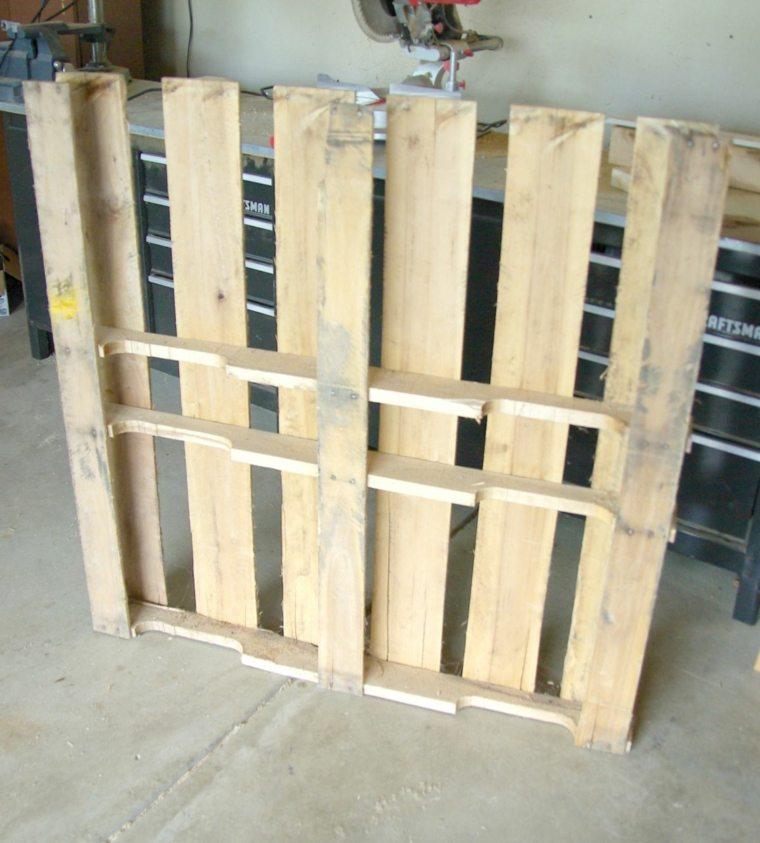 mesa de madera pales