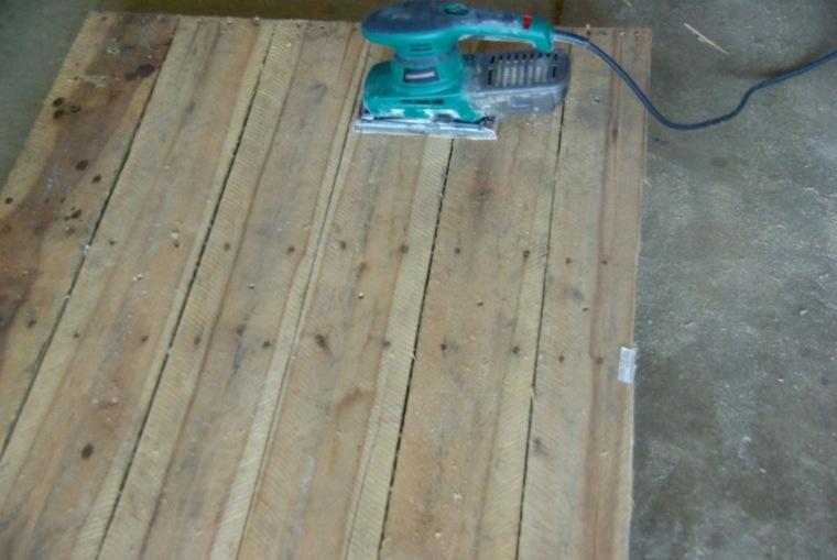 mesa madera pales reciclados