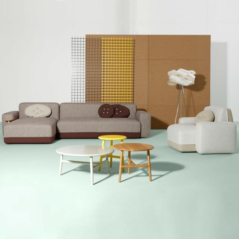 mesas auxiliares salon modernas elegantes