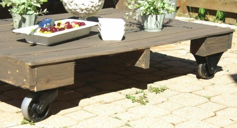 mesas de madera originales pales