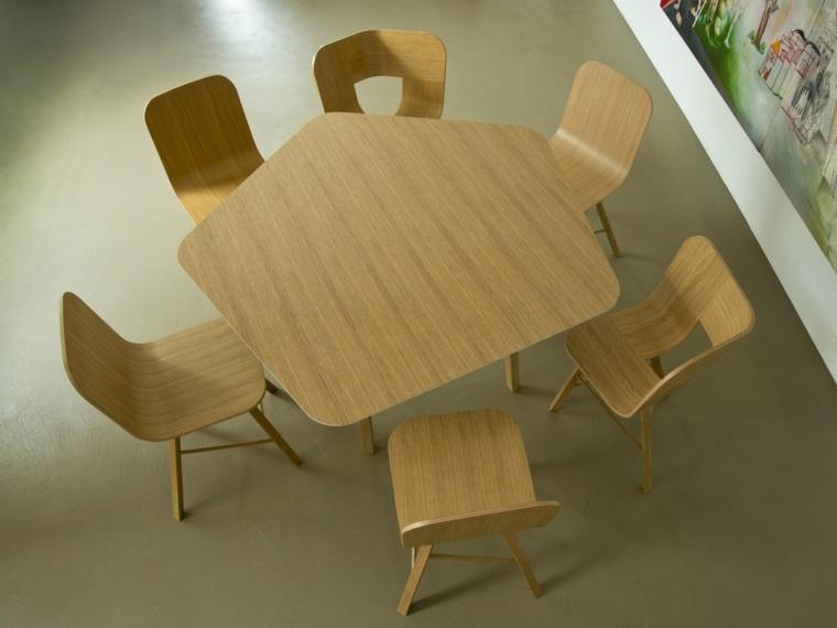 mesas de cocina-diseno-Lorenz-Kaz-forma-original-roble