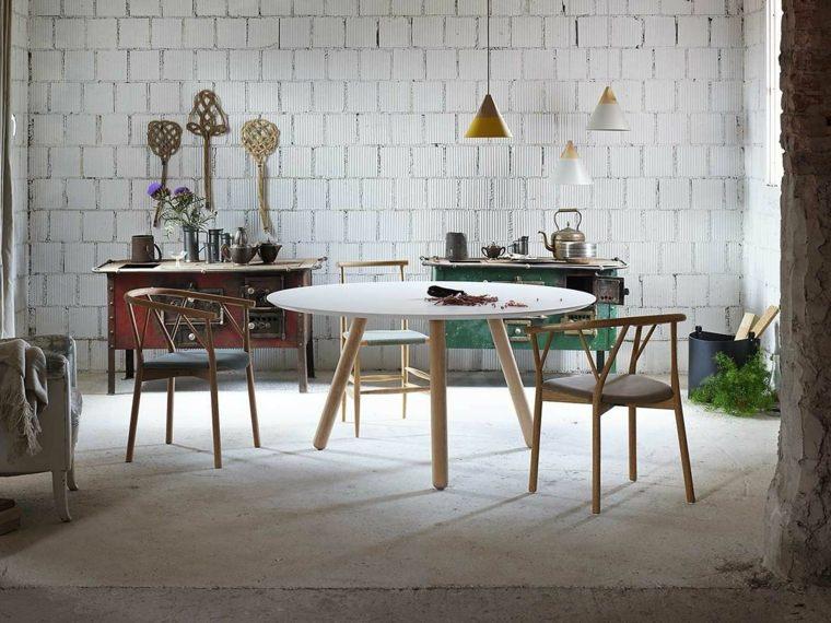 mesas de cocina-forma-redonda-diseno-moderno