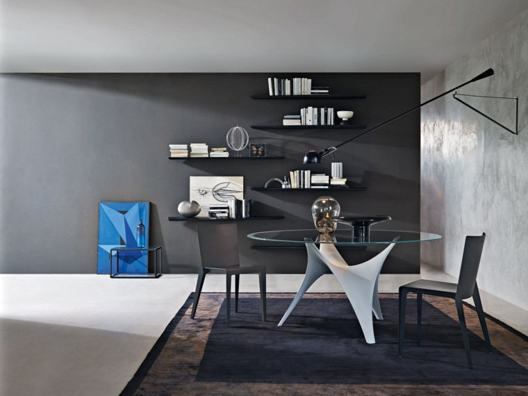 mesas de cocina-redonda-cristal-diseno-Foster-Partners-MOLTENI-C