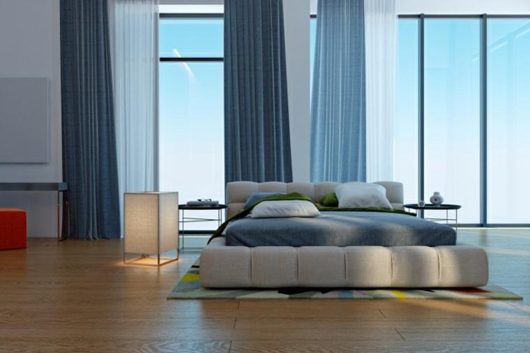 minimalista fresca muebles pocos diseño azules