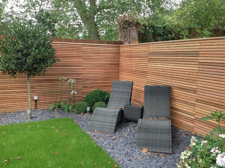 modrno patio madera clara decoraciones sillones apra solearse