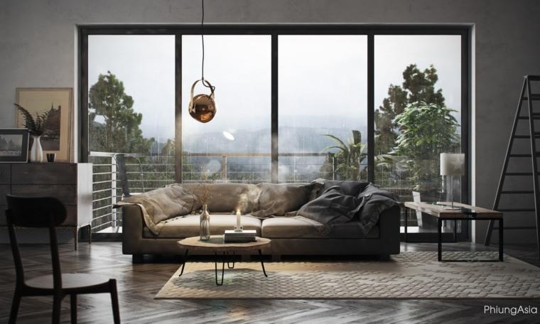 montanas asiatico espacio conceptos muebles cristales