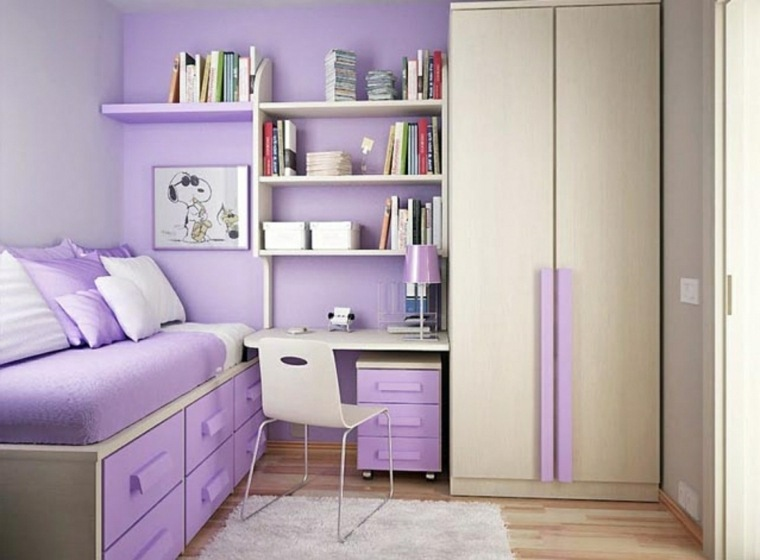 Muebles de dormitorios juveniles e infantiles para decorar - Small room ideas for girl ...