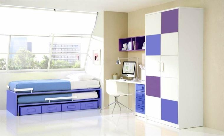 Muebles de dormitorios juveniles e infantiles para decorar
