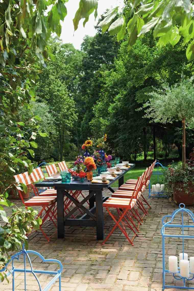 muebles de jardin diseno moderno comedor sillas plegables ideas