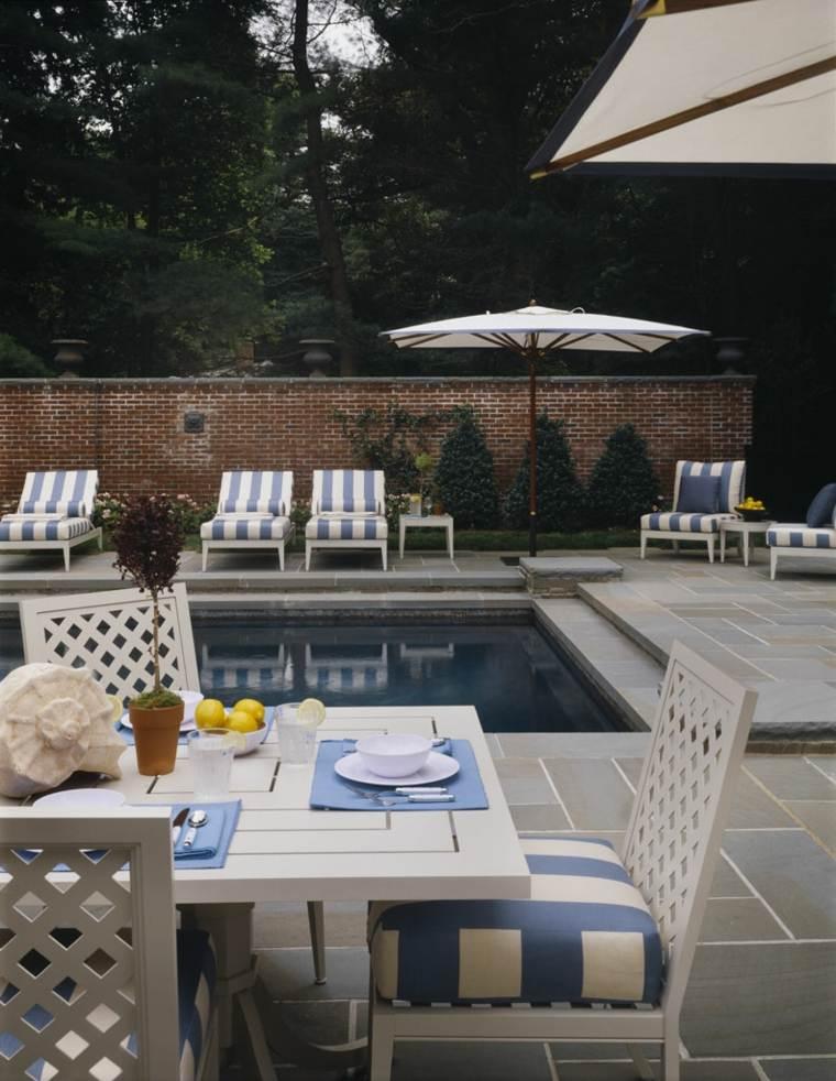 muebles de jardin diseno moderno espacio piscina ideas