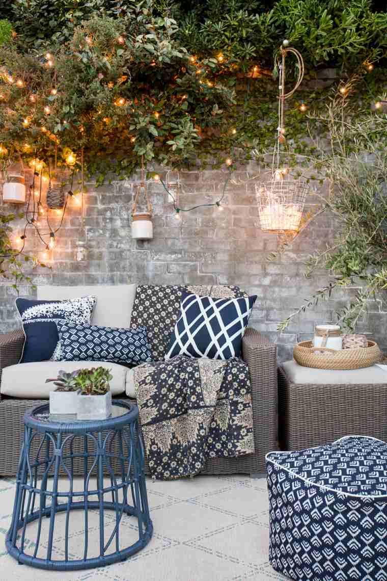 muebles de jardin diseno moderno iluminacion bella estilo ideas