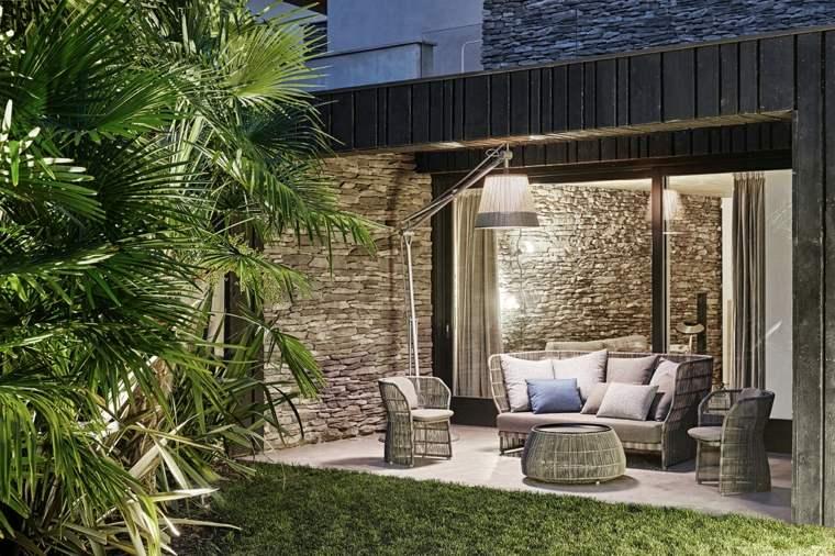 muebles de jardin diseno moderno lampara muebles estilo ideas
