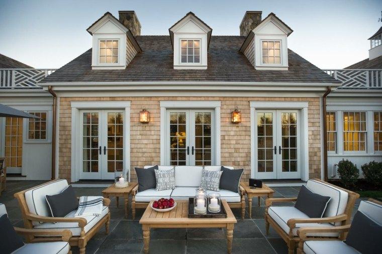 muebles de jardin diseno moderno madera casa clasica ideas