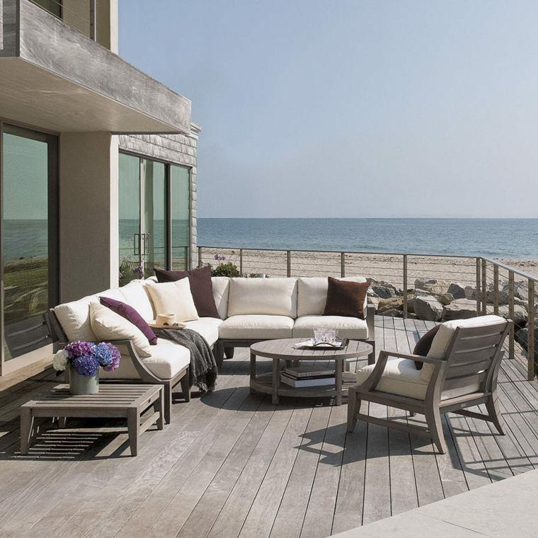 muebles de jardin diseno moderno madera terraza ideas