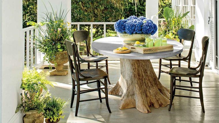 muebles de jardin diseno moderno mesa diseno original ideas