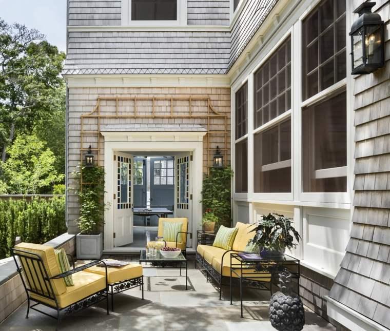muebles de jardin diseno moderno muebles acero negro ideas