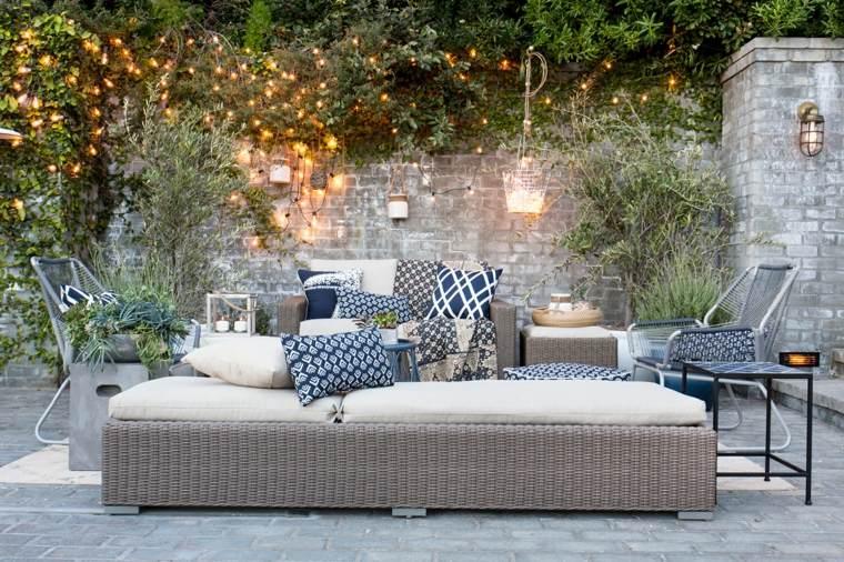 muebles de jardín diseno moderno sofa sin respaldo ideas