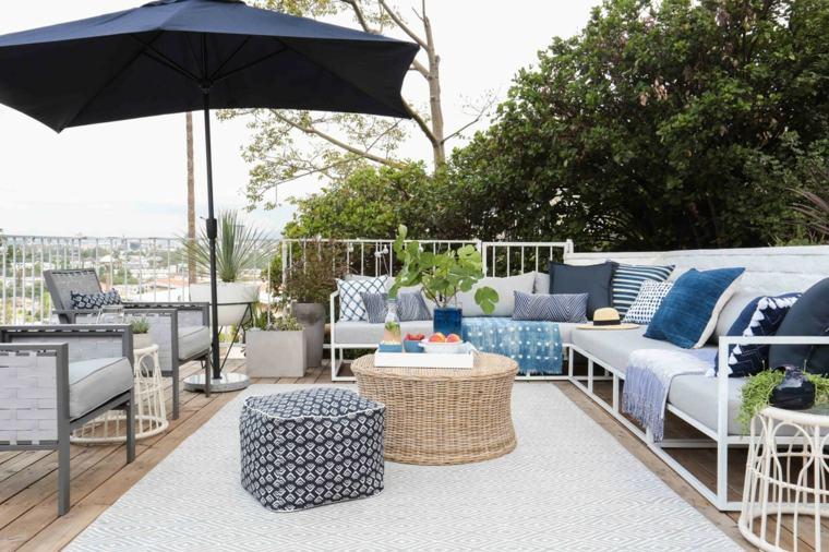 muebles de jardín diseno moderno sofas estilo ideas