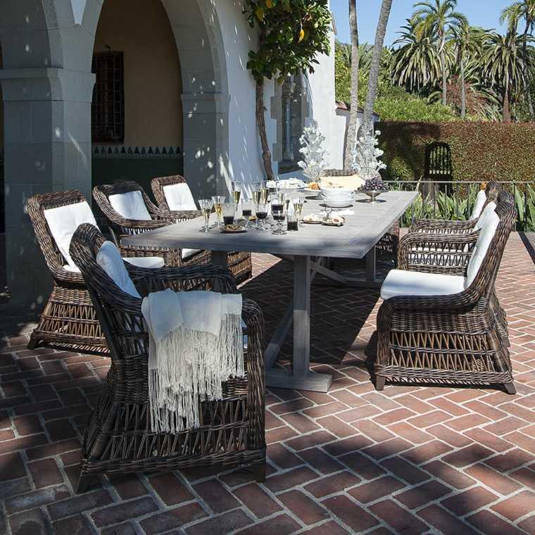 muebles de jardin diseno moderno terraza comedor sillas ideas