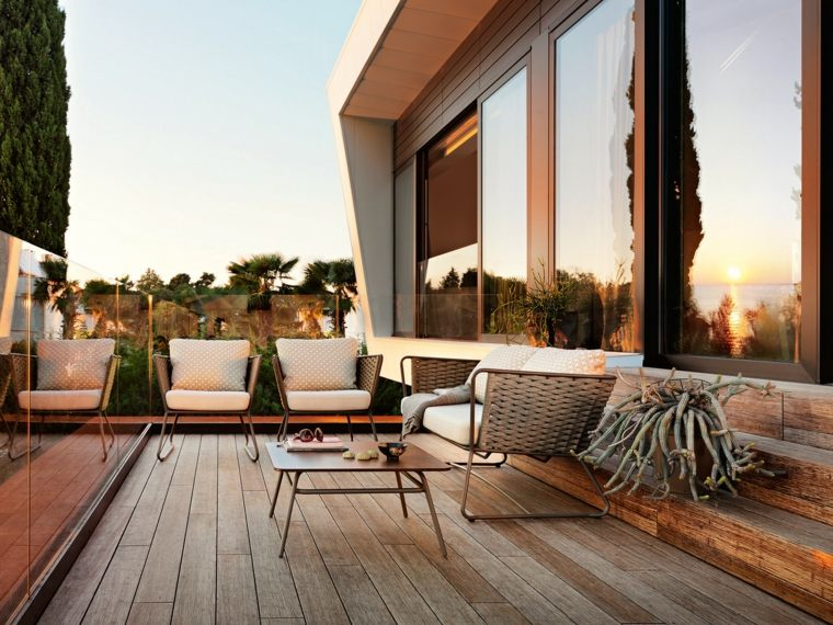 muebles de jardín diseno moderno terraza diseno contemporaneo ideas
