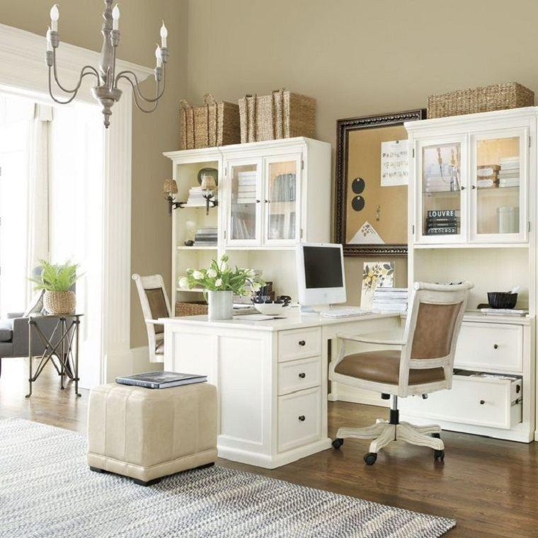 Decoraci n de despacho interior elegante y moderno 34 - Muebles despacho casa ...